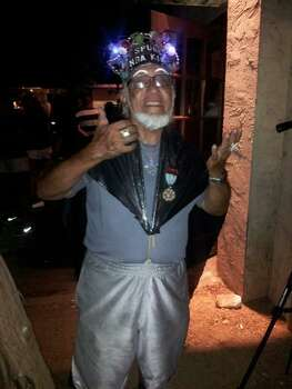 """The Spurs King"" was out celebrating during Game 5 of the NBA Finals on Sunday, June 15, 2014. Photo: Taylor Tompkins/San Antonio Express-News"