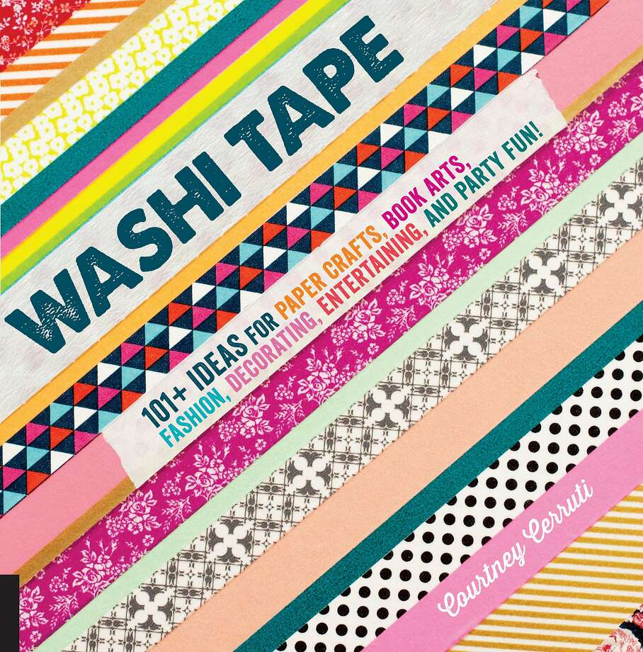 "By Courtney Cerruti (Quarry, $22.99) If you need another reason to squirrel away a few more rolls of Washi Tape, meet your new enabler: Courtney Cerruti. In ""Washi Tape: 101+ Ideas for Paper Crafts, Book Arts, Fashion, Decorating, Entertaining, and Party Fun,"" the Bay Area artist treats readers to a playful craft collection that goes beyond utilizing the low-tack, decorative Japanese paper in mere scrapbooking projects and on gift wrap. For the book, Cerruti designed projects that incorporate those irresistible little rolls into the everyday, from creating photo walls to switch plate covers and graphic wall borders. It turns out a little Washi Tape is the epitome of party fun, too, from whipping up mini-flag cupcake toppers to creating geometric patterns across otherwise ho-hum table runners. Kids are also likely candidates to appreciate the punch this tape has to offer. Cerruti illustrates the tape's ability to delight kiddos by applying it to sandwich wrap and using it to display artwork. Bottom line: There's plenty of fun to go around, from a memory matching game and festive paper crowns to keepsakes, such as art pieces that capture a child's sweet silhouette. Photo: Quarry"