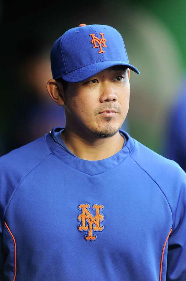 WASHINGTON, DC - MAY 16:  Daisuke Matsuzaka #16 of the New York Mets walks in the dugout before the game against the Washington Nationals at Nationals Park on May 16, 2014 in Washington, DC.  (Photo by Greg Fiume/Getty Images) Photo: Greg Fiume, Stringer / 2014 Getty Images
