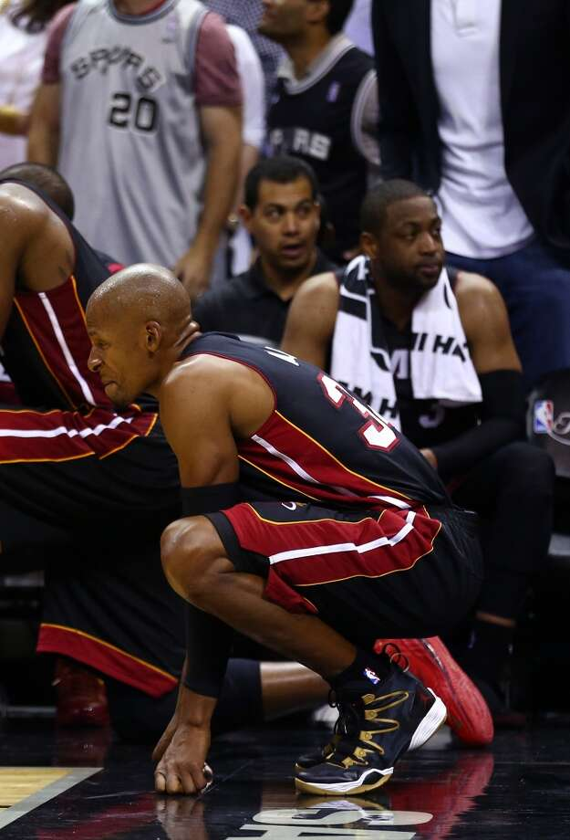 Ray Allen looks on from the bench during Game 5. Photo: Andy Lyons, Getty Images