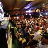 Spurs fans watch Game 5 of the NBA Finals on Sunday, June 15, 2014, at Fatso's Sports Garden in San Antonio. General manager Jim Woods estimated about 500 customers were present to watch the game.