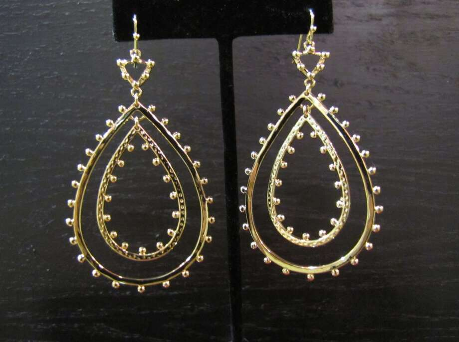 """Rumer"" Kendra Scott earrings, $60, Gaudie & Co., Beaumont"