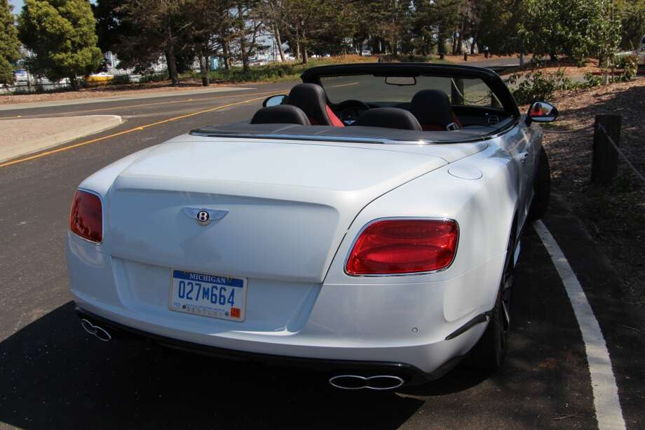 The 2014 Bentley Continental convertible.