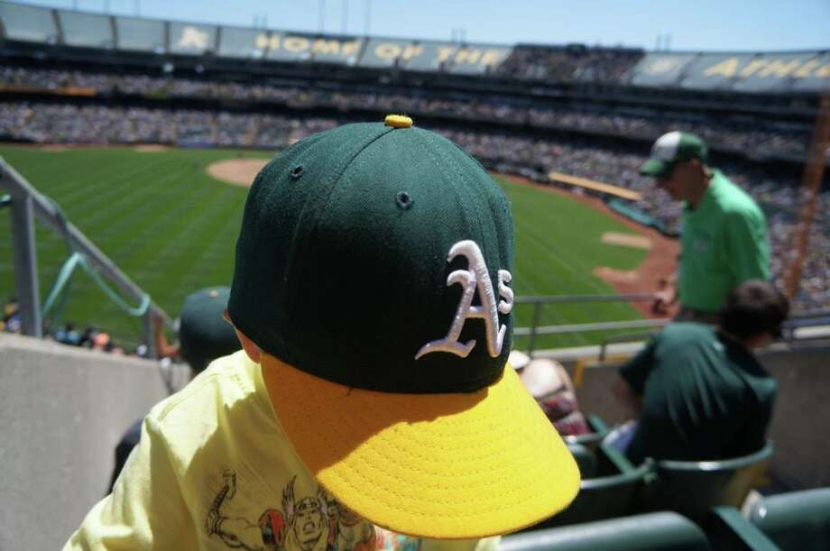 "Fernando Fernández submitted this photo with the caption: ""Nothing like an A's game with my son!"" Photo: Fernando Fernández , Courtesy"