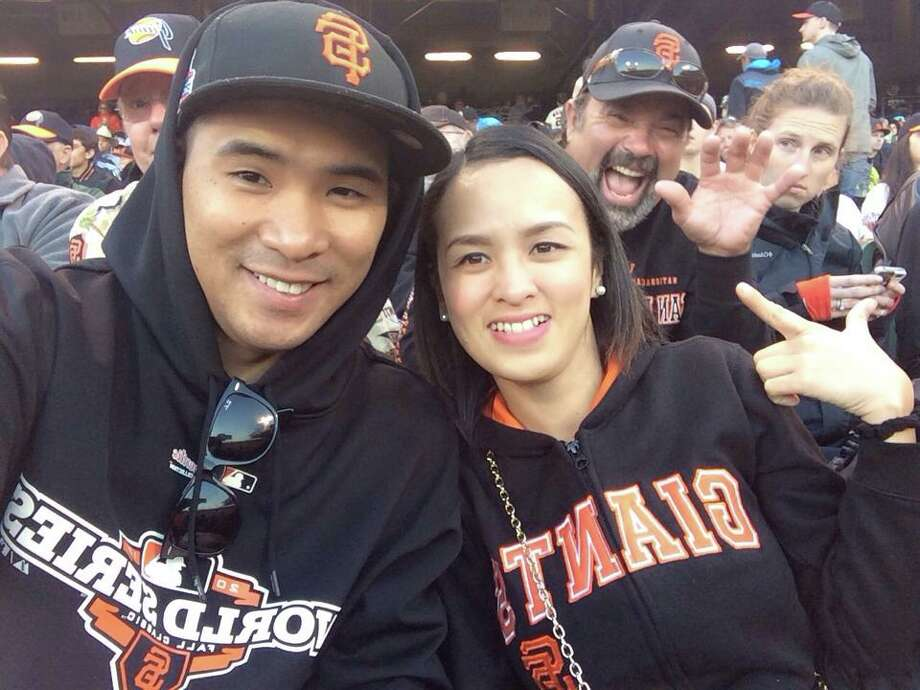 "Mary Stefany Sanchez-General getting ""photobombed at AT&T Park."" Photo: Mary Stefany Sanchez-General, Courtesy"