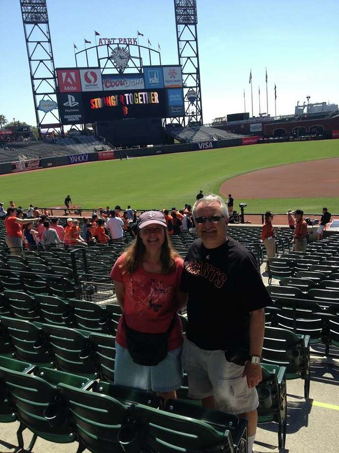"""My wife Linda and I, having moved here from CT 2 1/2 years ago, attended the day game vs the Atlanta Braves on Wednesday 14 May, when it was a record setting hottest day of the year.. we do like the Giants and we drive up from Los Altos."" Photo: Richard Fohrenbach, Courtesy"