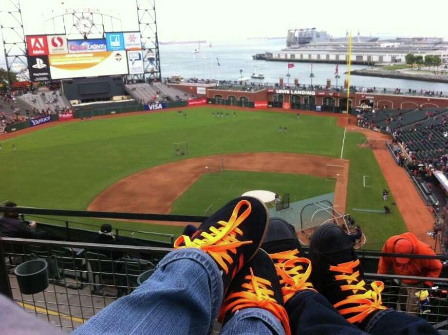 Mary Grace Eusebio submitted this photo of Orange Friday with Carlos Auerbach Jr. Nice matching shoelaces! Photo: Mary Grace Eusebio, Courtesy