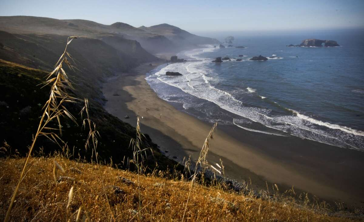 A vehicle was found at the bottom of a cliff off Highway 1 in the Jenner area on Tuesday morning.