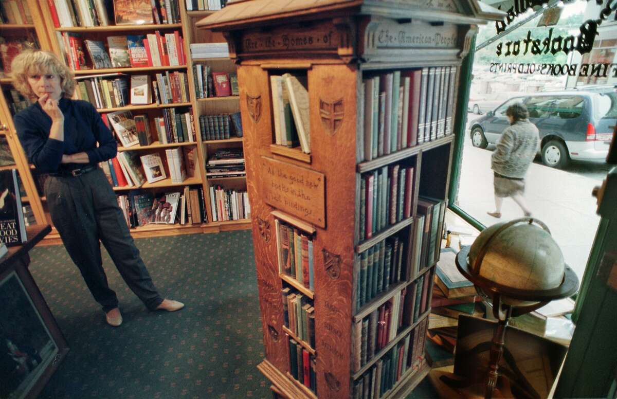 Times Union photo by CINDY SCHULTZ -- WED. OCT. 7, 1998 -- SARATOGA SPRINGS, NY -- Janice DeMarco owns the Lyrical Ballad Bookstore in Saratoga Springs with husband John DeMarco. The store features rare and out-of-print books.