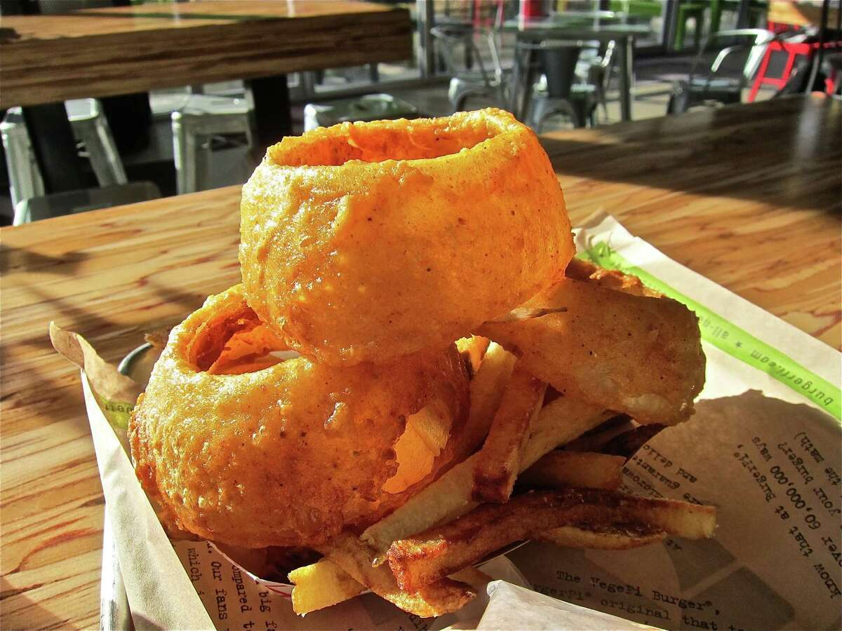 BurgerFi1501 Lake Robbins DriveThe Woodlands, TX Guests can get a half-price double cheeseburger with an in-store purchase of a regular sized fresh-cut french fry.