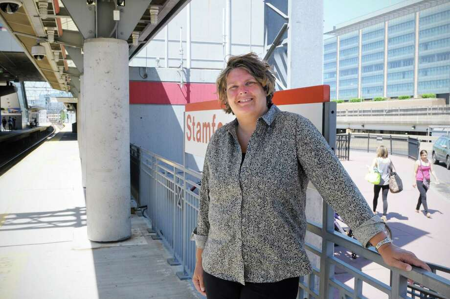 Jackie Lightfield is rhe executive director of the Stamford Partnership and is spearheading an effort to get the city to adopt a digital and tech strategy in its master plan. She's photographed at the Stamford train station on Monday June 16, 2014. Photo: Dru Nadler / Stamford Advocate Freelance