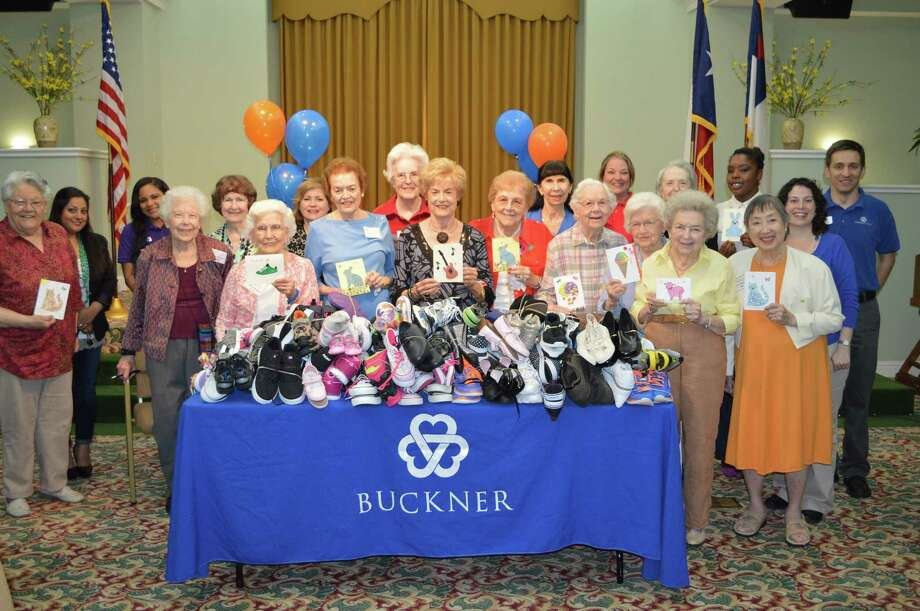 Parkway Place residents and staff collected 160 pairs of shoes and $1,100 in cash to benefit children in the United States and around the world.
