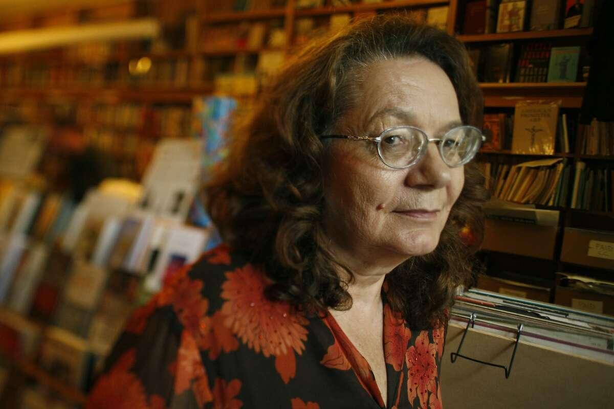 Poet Linda King is seen at Bird & Beckett Books & Records in San Francisco, Calif. on Sunday, September 13, 2009.