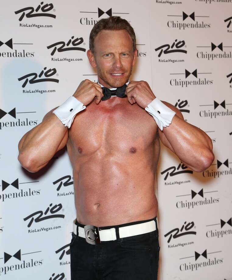 ctor Ian Ziering arrives for his return to the Chippendales stage at the Rio Hotel & Casino on June 14, 2014 in Las Vegas, Nevada. Photo: Gabe Ginsberg, FilmMagic