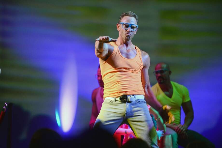 Actor Ian Ziering performs during his return as Chippendales celebrity guest host at Chippendales at the Rio Hotel & Casino on June 14, 2014 in Las Vegas, Nevada. Photo: Bryan Steffy, WireImage