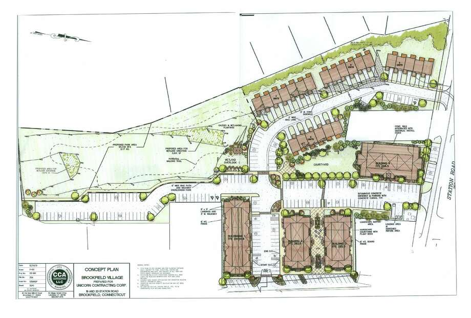 The proposed design plan for the expansion of the Brookfield Village project. Photo: Contributed Photo / The News-Times Contributed