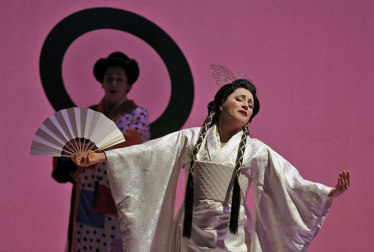 Patricia Racette is Cio-Cio-San in the SF Opera production of Madama Butterfly.