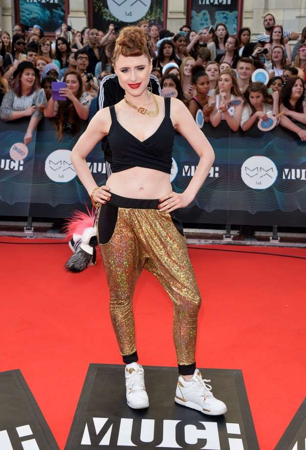 Kiesza arrives at the 2014 MuchMusic Video Awards at MuchMusic HQ on June 15, 2014 in Toronto, Canada. Photo: George Pimentel, WireImage