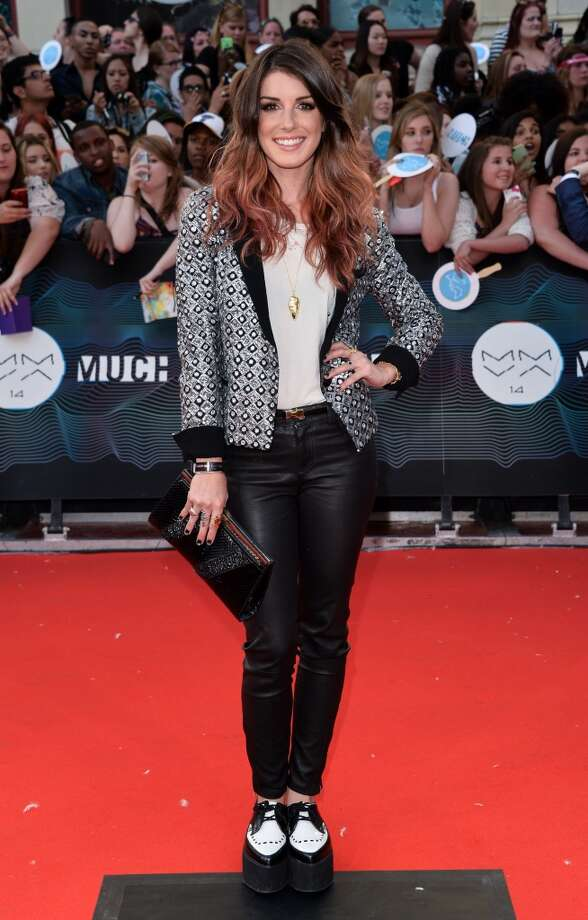 Shenae Grimes arrives at the 2014 MuchMusic Video Awards at MuchMusic HQ on June 15, 2014 in Toronto, Canada. Photo: George Pimentel, WireImage