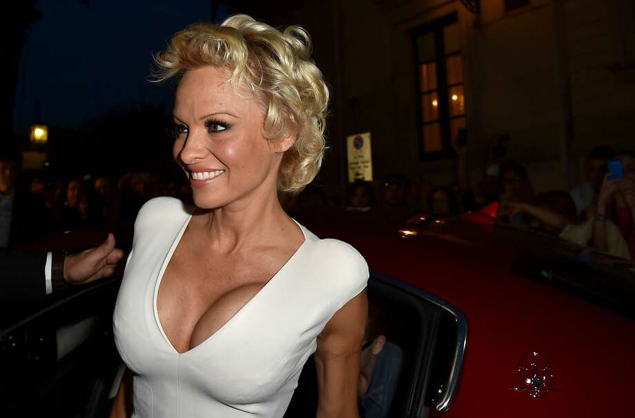 Ciao, bella! Actress Pamela Anderson makes an appearance at the Taormina Film Festival in Taormina, Italy. Photo: Valerio Pennicino, Getty Images For Maserati