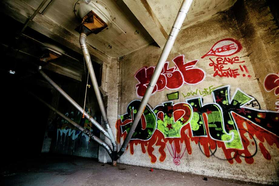 "Impressive displays of graffiti cover the walls within the former Fisher Flour Mill, photographed Thursday, June 5, 2014, near 16th Avenue Southwest and Southwest Lander Street on man-made Harbor Island in Seattle, Wash. The mill's opening on June 1, 1911, was coordinated as part of the city's ""Progress and Prosperity Day,"" organized by then-Mayor George W. Dilling. Photo: JORDAN STEAD, SEATTLEPI.COM / SEATTLEPI.COM"