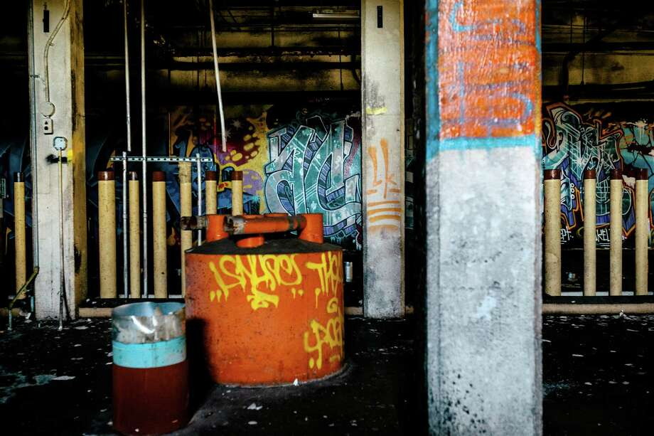 "Impressive displays of graffiti cover the walls within the former Fisher Flour Mill, photographed Thursday, June 5, 2014, near 16th Avenue Southwest and Southwest Lander Street on man-made Harbor Island in Seattle, Wash. The mil'Õs opening on June 1, 1911, was coordinated as part of the city's ""Progress and Prosperity Day,"" organized by then-Mayor George W. Dilling. Photo: JORDAN STEAD, SEATTLEPI.COM / SEATTLEPI.COM"