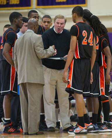 stamford high school calls a timeout with 30 seconds left to play during an fciac boys