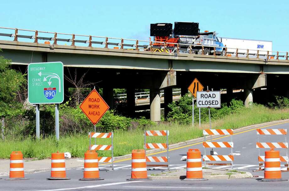 The Broadway on-ramp to I-890 westbound is closed for construction on Monday, June 16, 2014,  in Schenectady N.Y.  The on-ramp will be closed for 7 days. Traffic is detoured to I-890 eastbound at Exit 6, Michigan Avenue.  (Selby Smith / Special to the Times Union) Photo: Selby Smith / 00027371A