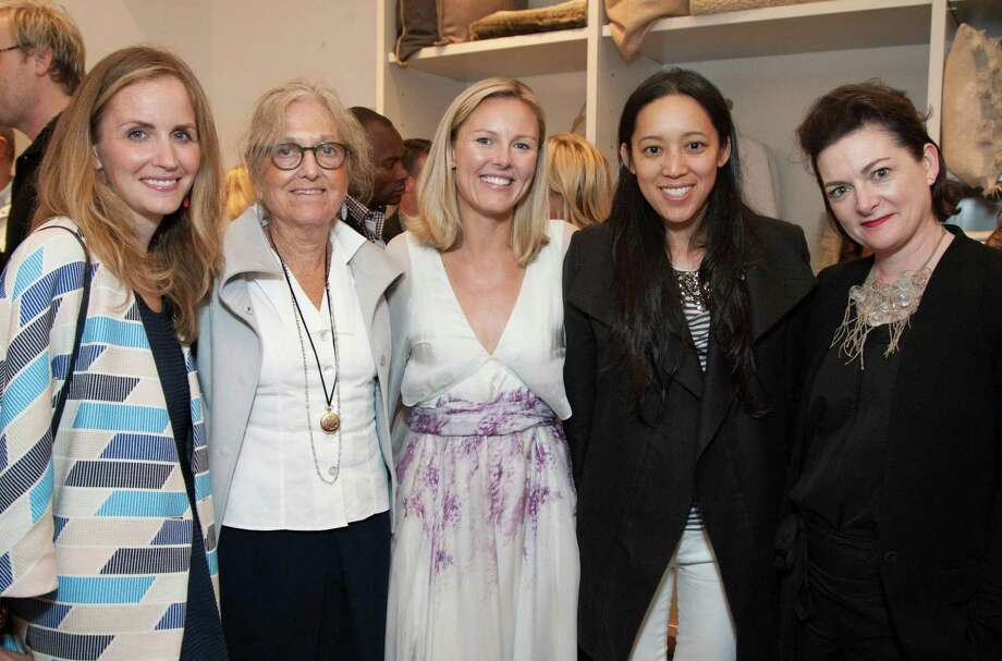 Chloe Warner, Susan Becher, Jessie Black, Emily Shieh and  Alisa Carroll at the Jessie Black Boutique opening celebration on June 5, 2014. Photo: Drew Altizer, Drew Altizer Photography