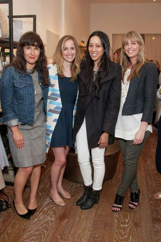 Miranda Jones, Chloe Warner, Emily Shieh and Tyler Dawson at the Jessie Black Boutique opening celebration on June 5, 2014. Photo: Drew Altizer, Drew Altizer Photography