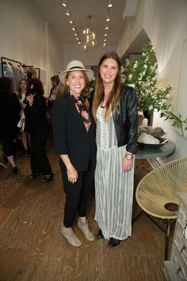 Natalie Bowen Brookshire and Myka Haddad at the Jessie Black Boutique opening celebration on June 5, 2014. Photo: Drew Altizer, Drew Altizer Photography / Copyright 2014 Drew Altizer