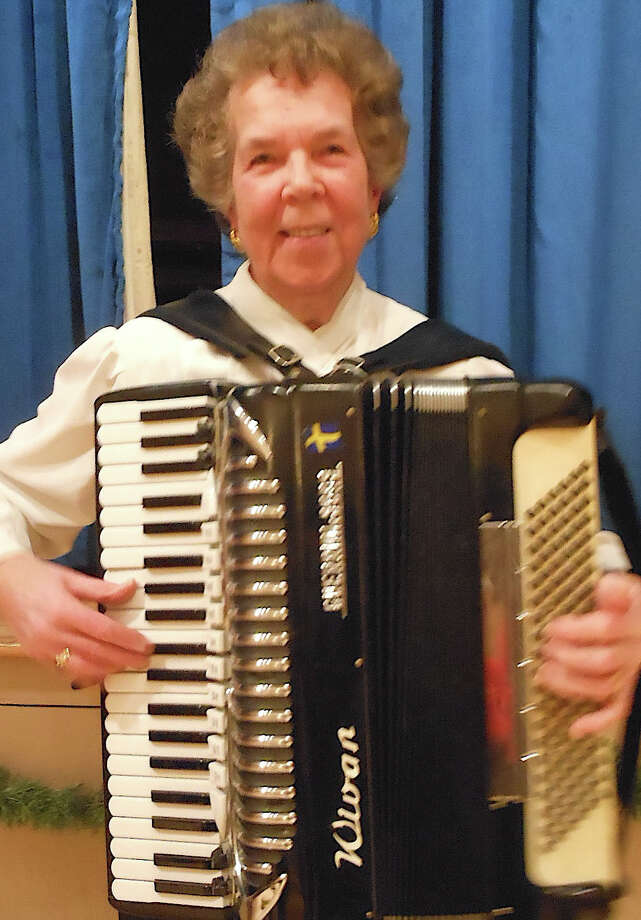 Accordionist Wivan Sundman will be part of the entertainment on  Saturday, June 21 at the Swedish Mid-Summer Fest at the Scandinavian Club, 1351 South Pine Creek Road. Photo: Mike Lauterborn / Fairfield Citizen contributed