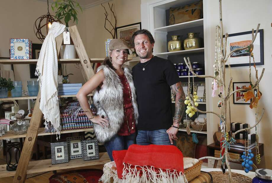 Hope and Pete Colling pictured June 10, 2014 in their store, The Mason Jar, in San Francisco, Calif. Photo: Leah Millis, The Chronicle