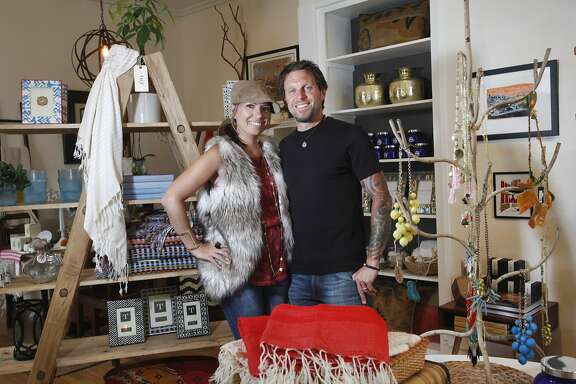Hope and Pete Colling pictured June 10, 2014 in their store, The Mason Jar, in San Francisco, Calif.