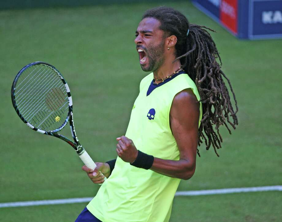 Dustin Brown beat No. 1 player Rafael Nadal at the Gerry Weber Open in Germany recently. Did Ken Hoffman's column give Brown a boost? Photo: Thomas Starke, Stringer / 2014 Getty Images