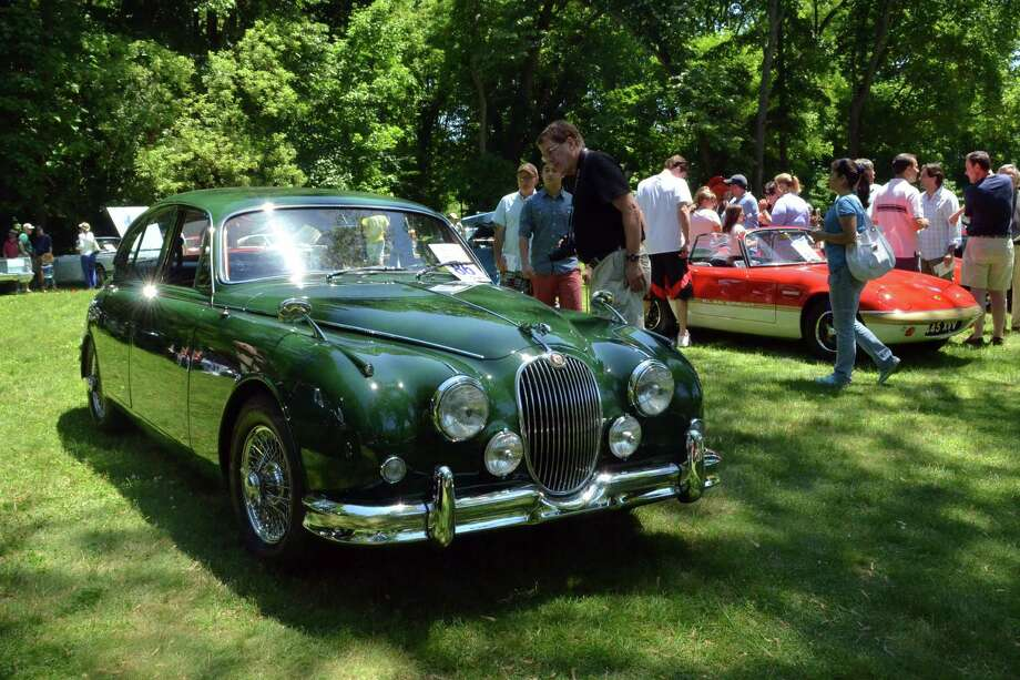 A 1962 Jaguar Mark II was one of the dozens of antique cars on display at the Darien Collectors' Car Show at Tilley Pond Park on Sunday, June 15. Photo: Megan Spicer / Darien News