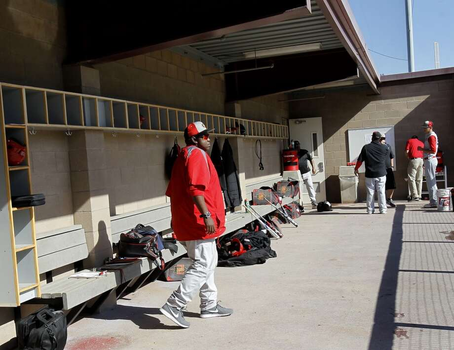 Tony Gwynn walks around the dugout before the game against Santa Clara University. Photo: Brant Ward, The Chronicle