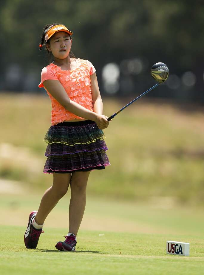 Lucy Li, only 11, is the youngest-ever qualifier for the U.S. Women's Open. Photo: Matt Sullivan, USGA Museum