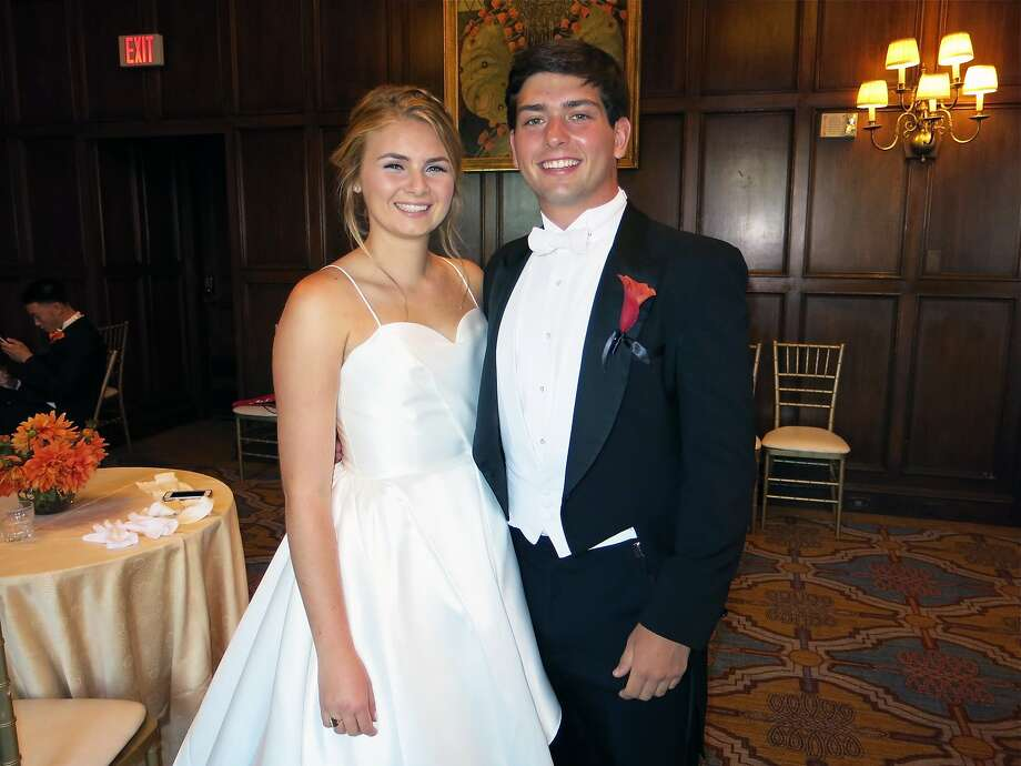 Debutante Chiara Brown and her escort, Nicholas Watkins, at the 50th California Pacific Medical Center San Francisco Debutante Ball held at the St. Francis Hotel. Photo: Catherine Bigelow, Special To The Chronicle
