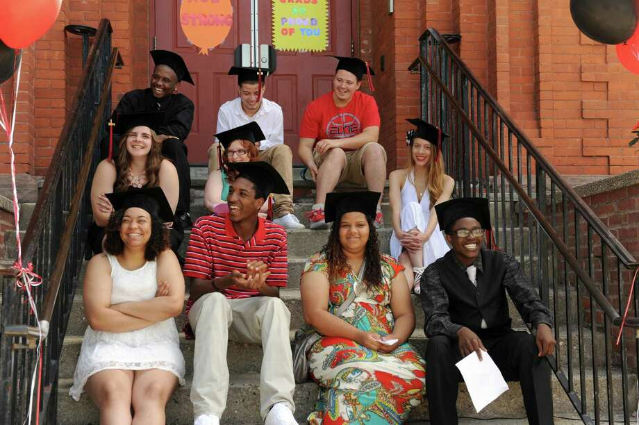 The Alternative Center for Excellence held its graduation ceremony at the school Monday morning, June 16, 2014. Photo: Carol Kaliff / The News-Times