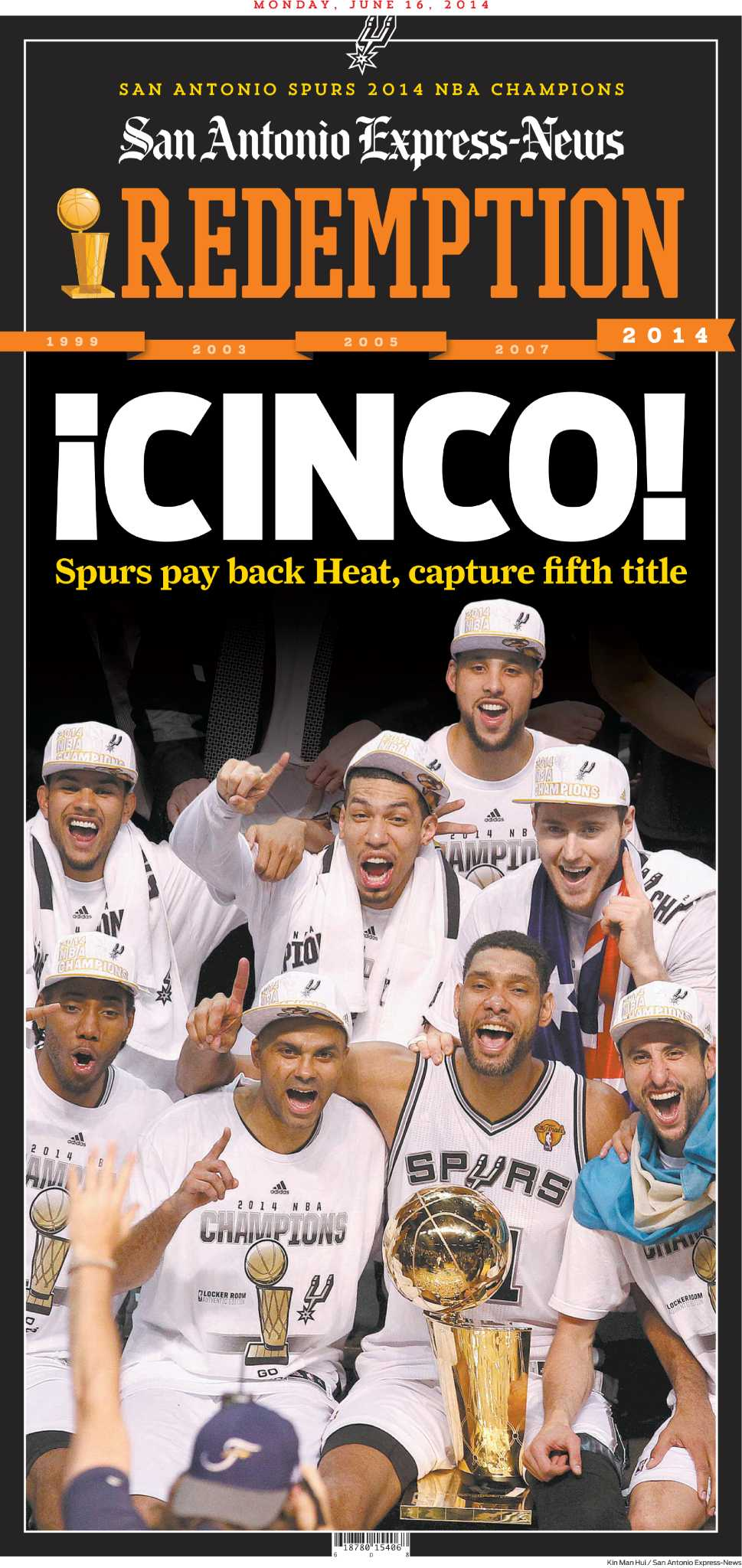 Reprints Of Spurs Win To Be Sold Tuesday San Antonio