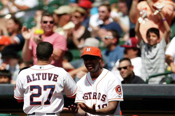 Astros manager Bo Porter, right, remains upbeat through good times and bad.