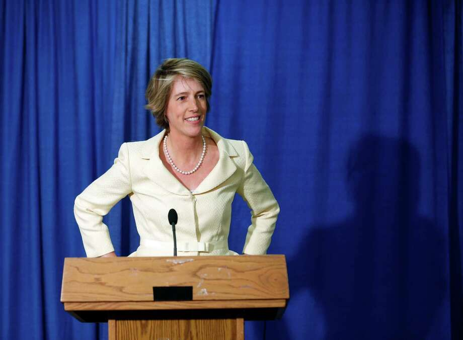 Democratic candidate for governor Zephyr Teachout speaks during a news conference on Monday, June 16, 2014, in Albany, N.Y.  Teachout, a liberal New York law professor,  formally announced her primary campaign against Gov. Andrew Cuomo, saying he is too focused on his own ambitions and the interests of wealthy donors. (AP Photo/Mike Groll) ORG XMIT: NYMG105 Photo: Mike Groll / AP