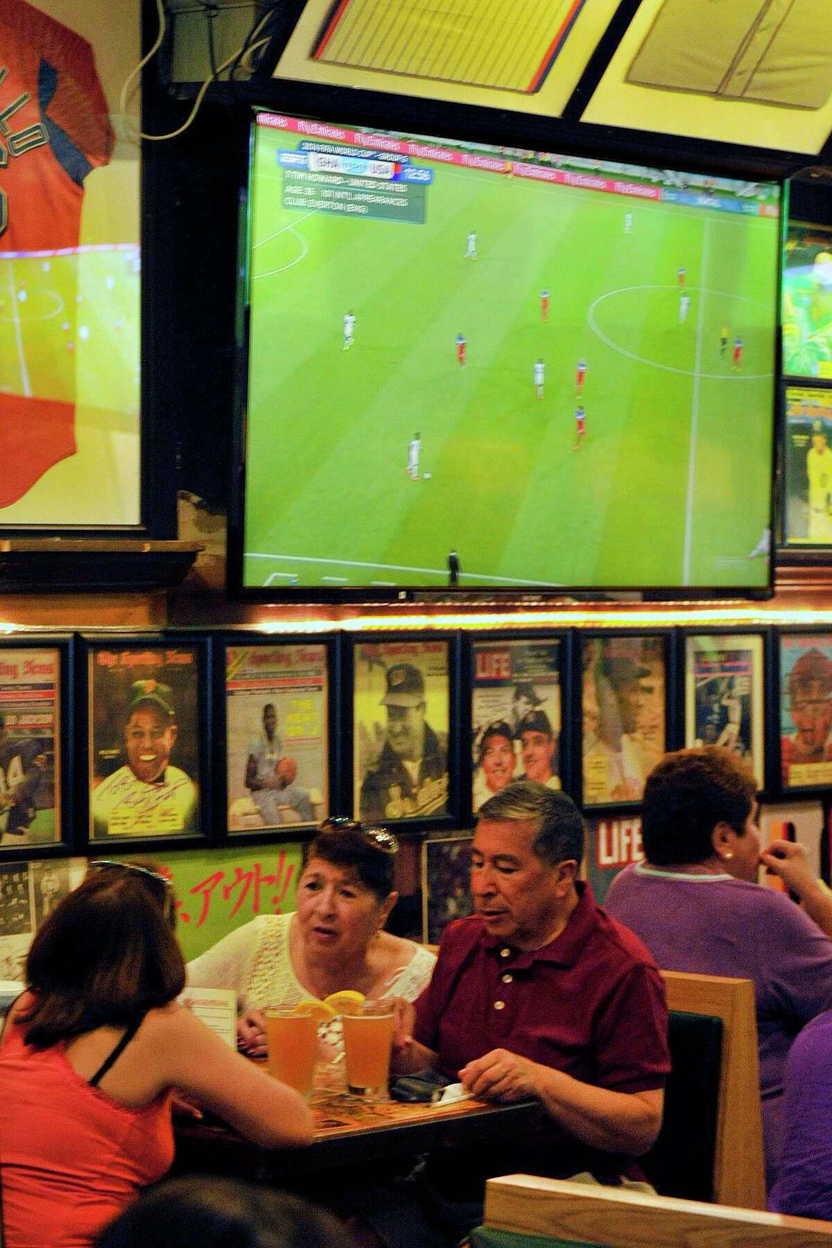 during the USA versus Ghana World Cup first round game at Bobby V's Sports Bar in Stamford, Conn., on Monday, June 16, 2014. USA won, 2-1.