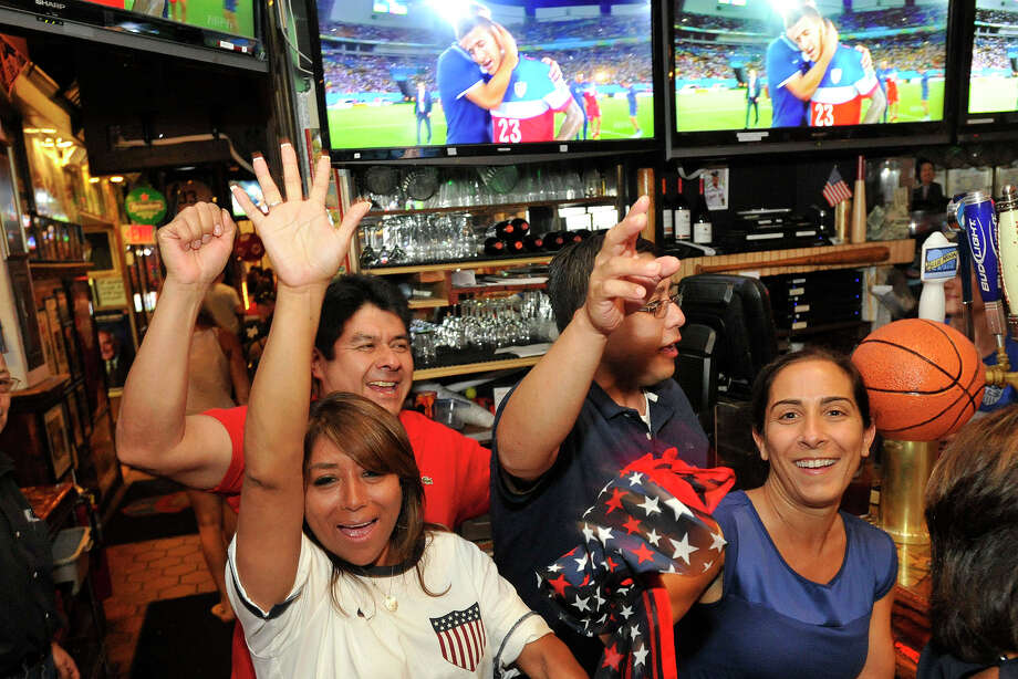 during the USA versus Ghana World Cup first round game at Bobby V's Sports Bar in Stamford, Conn., on Monday, June 16, 2014. USA won, 2-1. Photo: Jason Rearick / Stamford Advocate