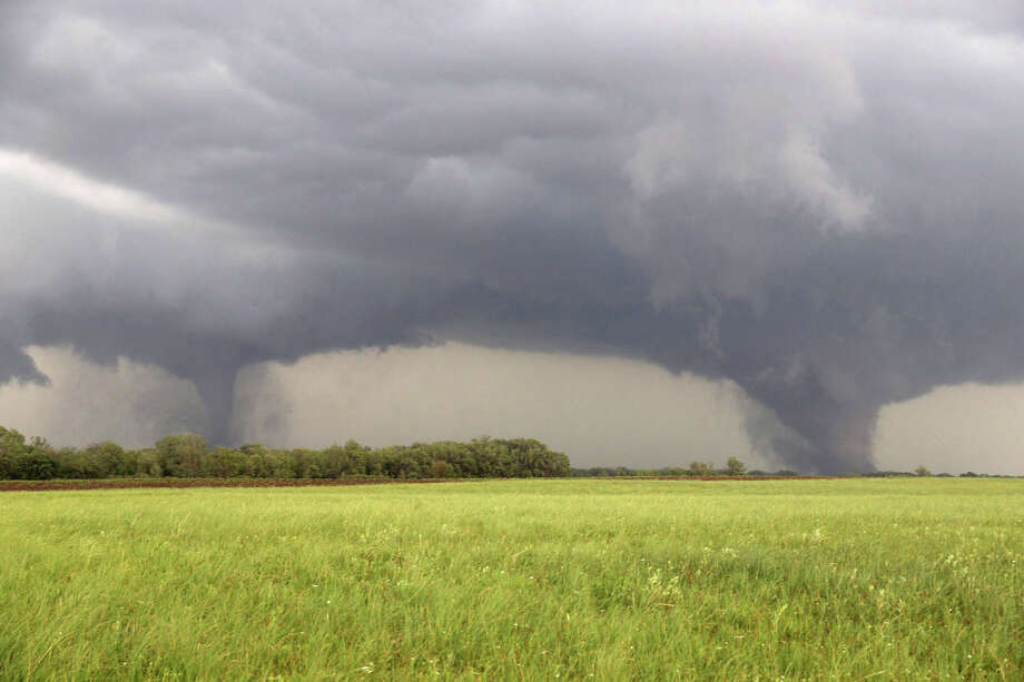 Two tornados approach  Pilger, Neb., Monday June 16, 2014.  The National Weather Service said at least two twisters touched down within roughly a mile of each other Monday in northeast Nebraska. Photo: Eric Anderson, AP / AP
