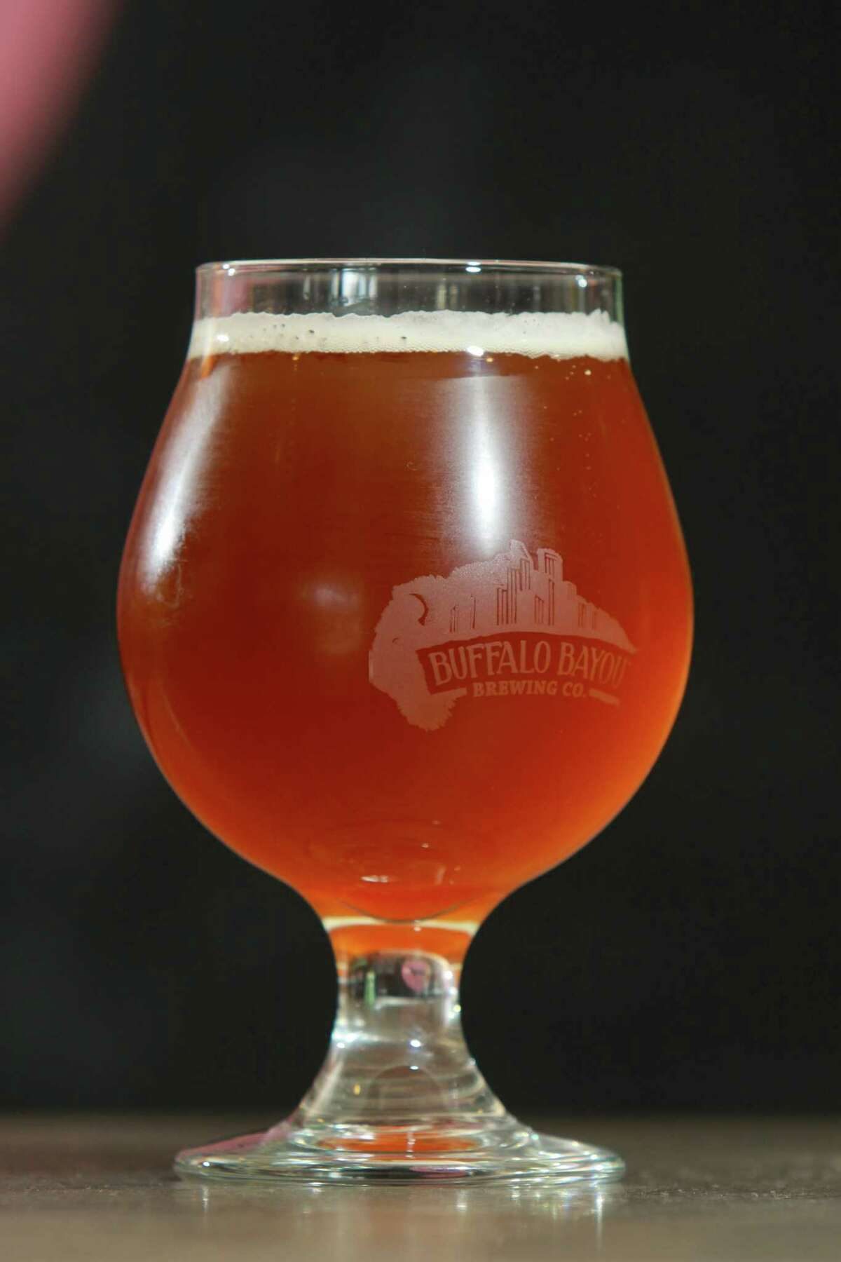 Buffalo Bayou Brewing Co.'s 1836 Copper Ale, on tap at Good Dog restaurant.