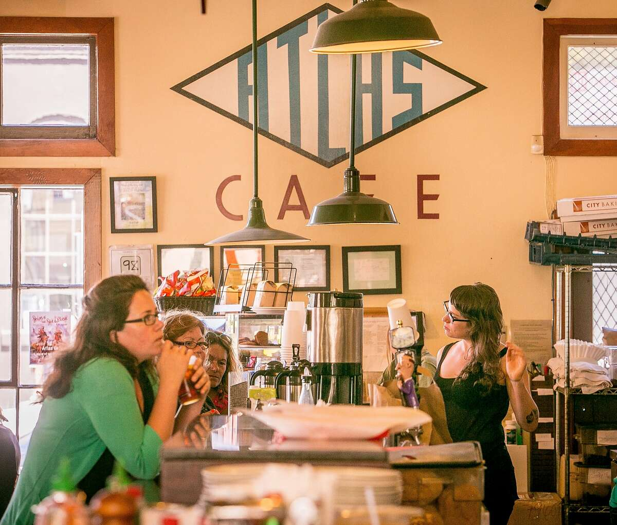 The interior of the Atlas Cafe in San Francsico, Calif. is seen on Monday, June 9th, 2014.