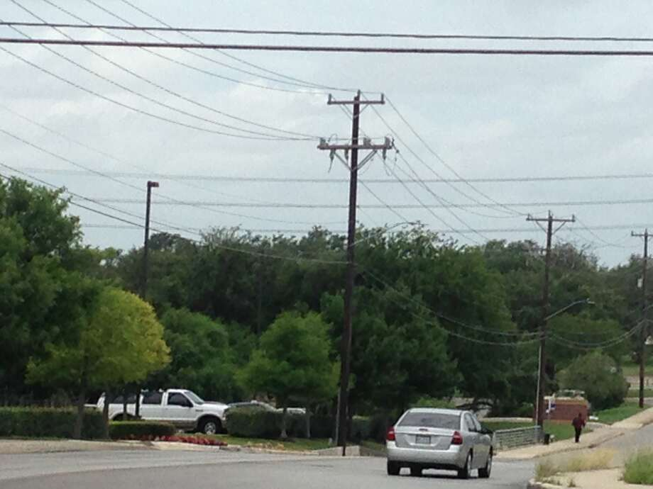 A suspicious package to the Prue Road substation prompted an evacuation. Photo: Alia Malik/San Antonio Express-News