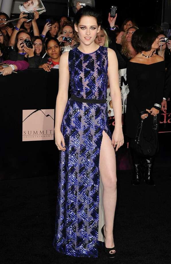 "2011Actress Kristen Stewart arrives at the Los Angeles Premiere ""The Twilight Saga: Breaking Dawn - Part 1"" at Nokia Theatre L.A. Photo: Jon Kopaloff, Getty / 2011 Jon Kopaloff"